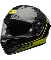 BELL Race Star Flex DLX Helmet Velocity Matte/Gloss Black/Hi Viz