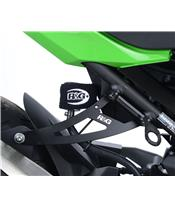R&G RACING Exhaust Hanger Black Kawasaki Ninja 400