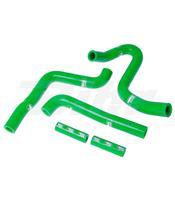 Kit tubos radiador Samco Kawasaki verde KAW-16-GN