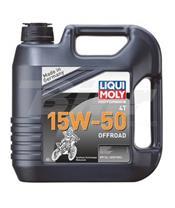 Garrafa de 4L óleo Liqui-Moly sintético 15W-50 Off road
