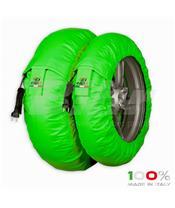 """""""Mantas de aquecimento CAPIT Suprema Spina. Cor verde (Frente 120/17"""""""", Trás 200/17"""""""")"""""""