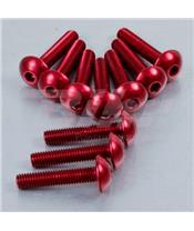Kit parafusaria de carenagem Pro-Bolt ZX10R (08-10) alumínio vermelha FKA287R