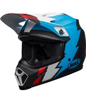 BELL MX-9 Mips Helmet Strike Matte Black/Blue/White