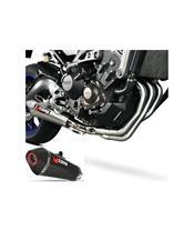 Ligne complète SCORPION Serket inox/silencieux carbone/casquette ABS noir Yamaha MT-09