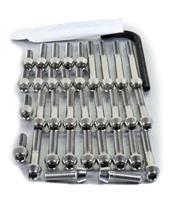 Kit tornillería aluminio motor+cárter Pro-Bolt ESU176P Violeta