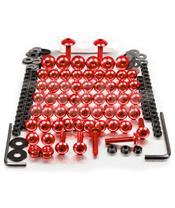 Kit parafusaria de carenagem Pro-Bolt ZX10R (06-07) alumínio vermelha FKA286R