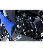 Carterdeksel links zwart R&G RACING Suzuki GSX1000S,ABS,FA