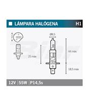 Lámpara OSRAM 64150NBU H1