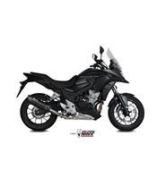Silencieux MIVV Suono inox noir casquette carbone Honda CB500X