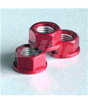 Porca de alumínio Pro-Bolt 10mm vermelha LSPN10R