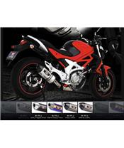 YOSHIMURA R77-J M. MAGIC MUFFLER/CARBON END CAP FOR SUZUKI