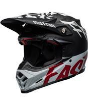 BELL Moto-9 Flex Helm Fasthouse WRWF Gloss Black/White/Red Größe
