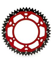 ART Dual-components Rear Sprockets 49 Teeth Ultra-light Self-cleaning Aluminum/Steel 520 Pitch Type 808  Red