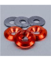Arandela de Aluminio avellanada M6 naranja LWAC6-22O