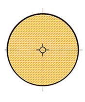 Reflex ambar redondo con adhesivo