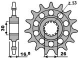 PBR Front Sprocket 16 Teeth Steel Racing 520 Pitch Type 347M Honda CBR600/1000RR