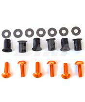 Kit tornilleria de cúpula (6 piezas) Aluminio naranja Pro-Bolt SK6O
