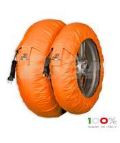 Aquecedores de pneus CAPIT Suprema Spina Cor laranja (17'' - Frente 120/Trás 180)