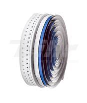 Fita de guiador Velo, em microfibra furada, branca/azul