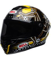 BELL Star DLX Mips Helm Isle of Man 2020 Gloss Black/Yellow Größe