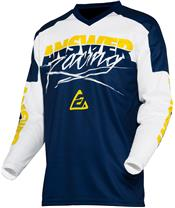 Camiseta Answer SYNCRON PRO GLO Amarillo/Azul Oscuro/Blanco, Talla XL