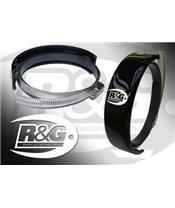 R&G RACING Exhaust Guard Round Muffler Ø140-165mm Black