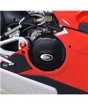 Couvre-carter d'embrayage R&G RACING noir Ducati Panigale V4/V4S