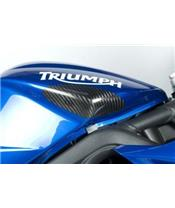 SLIDERS VAN DE TANK R&G RACING IN CARBON VOOR TRIUMPH