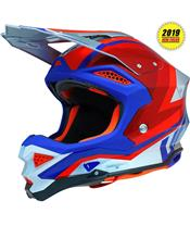 Casque UFO Diamond gris/rouge/blanc