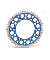 RENTHAL Twinring® 49 Teeth Rear Sprocket Ultra-light Self-Cleaning Hard Anodized 520 Pitch Type 1500 Blue