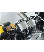 Tachometer and speedometer cover Aluminium LSL Triumph Bonneville