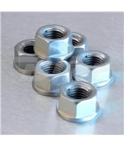 Porca de coroa 10mm x 1,25 (6 pack) alumínio prata Pro-Bolt SPN10S