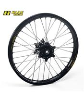 HAAN WHEELS Complete Front Wheel 17x3,50x36T Black Rim/Black Hub/Black Spokes/Black Spoke Nuts