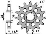 VOORTANDWIEL 16 TANDEN APRILIA RSV-4 520 - RACING