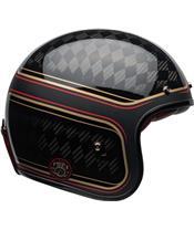 Capacete Bell Custom 500 Carbon RSD CHECKmate Preta/Dourada, Tamanho L