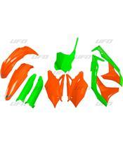 Kit plastiques UFO Edition Limitée vert/orange Kawasaki KX250F