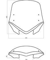 "Bulle MRA V-Flow X-Creen Sport ""Z"" fumé"