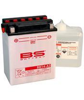 Batterie BS BATTERY BB14-A2 haute performance livrée avec pack acide