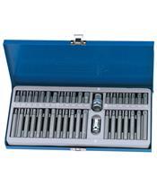 DRAPER TX-STAR®, Spline (XZN), CHC Bits Set Steel Case 40 pieces