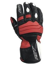 RST Jet Gloves CE Leather/Textile Red Siz