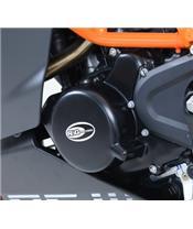 Carterdeksel  links zwart R&G RACING KTMRC125/200