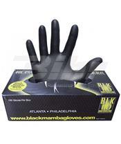 Caja de 100 guantes de nitrilo. Color negro - talla XL