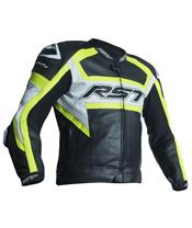 RST TracTech Evo R Jacket CE Leather Flo Yellow