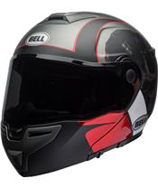 BELL SRT Modular Helmet Hart-Luck Skull Gloss Matte Charcoal/White/Red