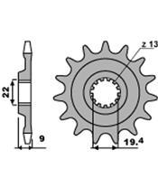 PBR Front Sprocket 13 Teeth Steel Standard 520 Pitch Type 2259 Suzuki RMZ250