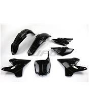 UFO Plastic Kit Black Yamaha YZ125/250