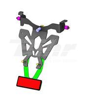Suporte de matrícula Honda CB1000R preta