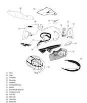 ARAI Dual Flow Spoiler Frost White Full Face Helmet