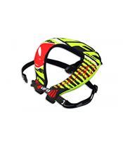 UFO Bulldog Neck Brace Neon Yellow/Red Oversize