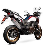 Ponteira escape Scorpion Serket paralelo Titanio Honda CRF1000 Africa Twin